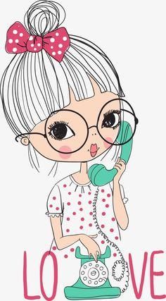 Children'sdesigns, Ly, Decoration, Vector PNG Transparent C Illustration Mignonne, Illustration Girl, Cartoon Drawings, Cute Drawings, Cartoon Cartoon, Cartoon Mignon, Art Mignon, Cute Cartoon Girl, Big Eyes
