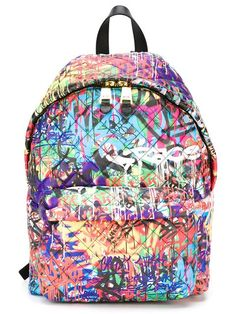 Moschino graffiti quilted backpack ( 1 195ee95a5e3b8