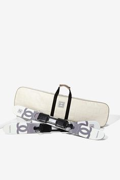 Vintage Chanel Skis With Case