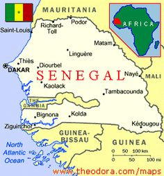 Senegal Map. As you see, the capital is Dakar | Senegal Project