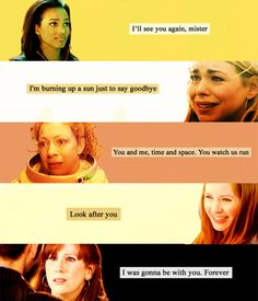 """Companions. """"In the end...They break my heart.""""-Ten = *crying*"""