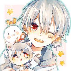 Be kind 💛 Cute Anime Chibi, Kawaii Chibi, Anime Cat, Chica Anime Manga, Cute Anime Boy, Kawaii Art, Otaku Anime, Anime Guys, Anime Triste