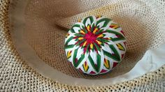Chrysanthemum Patterned Fuchsia  Green Temari by TomyresTemari, $80.00 Paper Flower Ball, Paper Flowers, Temari Patterns, Japanese New Year, Wire Crochet, Japanese Embroidery, Crepe Paper, Color Themes, Color Inspiration