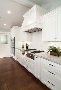 Morrocan tile backsplash.  Wide Open Kitchen, Clean, simple, usable, Counter space is perfect.