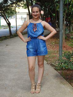 Dicas da Laiza: Look - Macaquinho Jeans