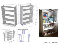 Cabinet for toys and books.