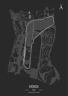 Racing Track Poster Art Print by aleks koverha - X-Small F1 Wallpaper Hd, Car Wallpapers, Racing F1, Italian Grand Prix, Formula 1 Car, Vintage Racing, Courses, Motogp, Thing 1