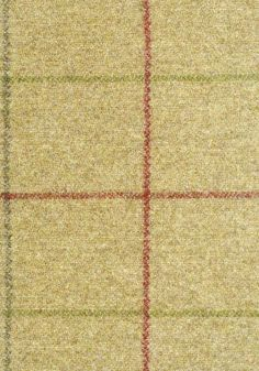 Hawke Wool Fabric    £99.50 per metre    Pale green wool with box check in Sage and Red.  Suitable for Curtains, and heavy wear upholstery