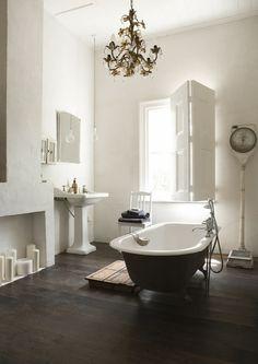 Simple style. Modern vintage bathroom.