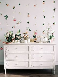 floating floral backdrop.