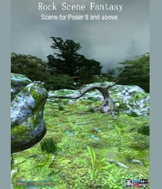 Rock Scene Fantasy Poser 3D Models JeffersonAF