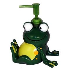 Frog Mania Bath Accessories Frog Bathroom, Bathroom Stuff, Frog House, Frog Theme, Frog Life, Welcome To My House, Quirky Decor, Frog And Toad, Reptiles And Amphibians