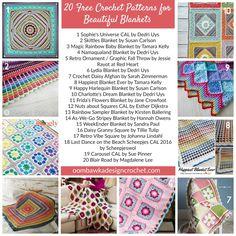 20 Free Crochet Patterns for Beautiful Blankets