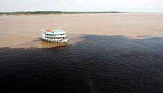 A beleza do encontro das aguas.(Foto de Chico Batata)