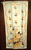 Vintage 1950 Kitchen Dish Tea Towel Mid Century Flower Pot Motif Unused