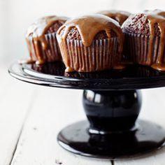 Babeczki czekoladowo - kawowe z wiśniami