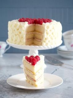 Vanilla-Buttermilk-Cake is an extra moist vanilla cake that is sure to impress when filled with raspberry and lemon, and enrobed in dreamy white chocolate buttercream frosting.
