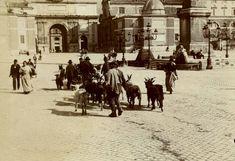Piazza del popoloin un 'immagine del 1898.