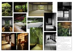 Agata Byrne, landscape architect, garden designer, florist, Moodboard of Inspirations, 2015 competition for Japanese style indoor garden for Chelsea and Westminster Hospital, London
