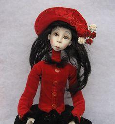 Love Art doll OOAK  Handmade art doll  Paper  clay doll by JuraD, $200.00