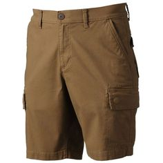 Men's Urban Pipeline® Ultimate Flex Canvas Hiker Cargo Shorts (62 BRL) ❤ liked on Polyvore featuring men's fashion, men's clothing, men's shorts, dark brown, mens canvas shorts, mens stretch shorts, mens clothing, men's apparel and mens shorts