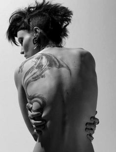 The girl with the dragon tattoo... The movie was good also.