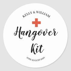 Hangover Kit Sticker Bridal Shower Favors, Bridal Shower Invitations, Couples Shower Themes, Honey Do Shower, Hangover Kit Wedding, Wedding Labels, Wedding Cards, Thank You Stickers, Wedding Stickers