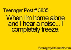 Because freezing definitely makes you invisible to the murderer that just broke in...