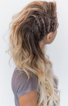 Festival Hair Hacks And Easy Step By Step Tutorial Lists That Are Easy And Beaut. - Your Hair Lagertha Hair, Vikings Lagertha, Lagertha Costume, Hair Day, Pretty Hairstyles, French Braided Hairstyles, Braided Hairstyles For Long Hair, Boho Hairstyles For Long Hair, Night Out Hairstyles