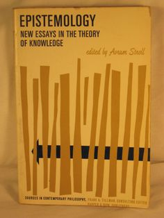 Epistemology New Essays in the Theory of Knowledge Avrum Stroll PB 1967