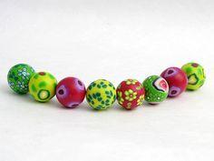 Hawai Perlenset aus Polymer Clay handgefertigt von polymerdesign