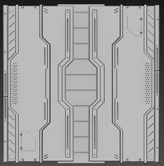 Mouhsine Adnani - Portfolio and WIPs - Polycount Forum Spaceship Interior, Game Textures, Ceiling Texture, Sci Fi Environment, Gundam Custom Build, 3d Texture, Sci Fi Art, Game Design, Pixel Art