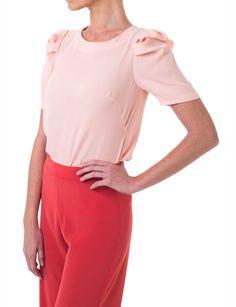 Top lady rosa o azul Alexa de Double Ikkat