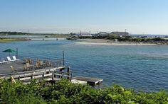 Ogunquit, Maine, bridge to beach