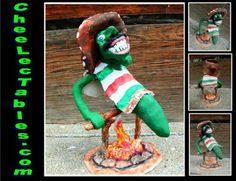 CheeLecTables - Hatch, New Mexico  inspired Green & Red Chile figurines…