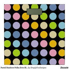 Pastel Rainbow Polka Dots Black Bathroom Scale