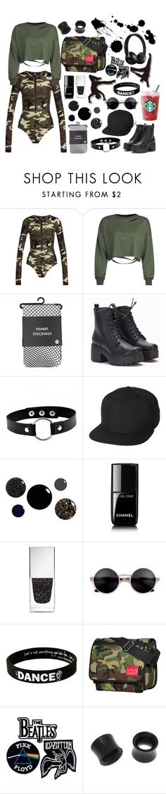 """""""Untitled #394"""" by army-4-life on Polyvore featuring The Upside, WithChic, UB by N.A.R., Chanel, Givenchy, Peace Love World, Manhattan Portage, Floyd and NOVICA"""