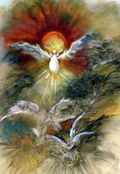 Spirit Rising, Holy Spirit, Dove, Bird, Religious, Spiritual ART PRINT Signed by Marina Petro on Etsy, $39.99