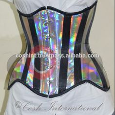 Holographic PVC Underbust Steel boned Corset, View holographic corset, coshintl.com Product Details from COSH INTERNATIONAL on Alibaba.com