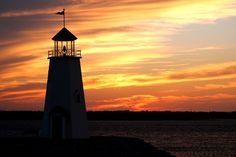 Lighthouse on a Lake by Jennifer Cody, via 500px