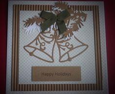 Beautiful Christmas handmade greeting card holiday by CREATEandBe