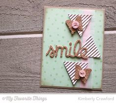 Diagonal Stripes Background, TRANSFORM-ables Smile Die-namics, Triangles Die-namics, Winged Beauties Die-namics - Kimberly Crawford #mftstamps