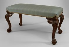 English Chippendale seating bench/stool mahogany Piano Stool, Bench Stool, Antique Furniture, Cool Furniture, English Country Decor, Art Decor, Home Decor, Decor Styles, Architecture Design
