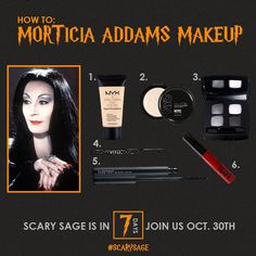 "How fabulous is Morticia Addams? She has an eerie beauty about her. Addams beauty … Continue reading ""How To: Morticia Addams Makeup"""