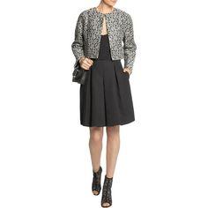 Giambattista Valli - Metallic Tweed Jacket (447.750 CLP) ❤ liked on Polyvore featuring outerwear, jackets, giambattista valli jacket, tweed jacket, giambattista valli, tailored jacket and metallic jacket