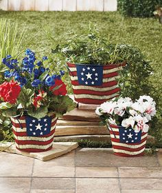 Looking to add a splash of stars and stripes to your garden? Movable planters may be the way to go.