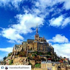 #Repost @travelsofkathleen with @repostapp  Follow back for travel inspiration and tag your post with #talestreet to get featured.  Join our community of travelers and share your travel experiences with fellow travelers atHttp://talestreet.com  Mont Saint-Michel is truly incredible! #montsaintmichel #traveltheworld #wanderlust #traintravel #liveagreatstory #travelsofkathleen #tlpicks #travelerinfrance #shewhowanders #twitter #castle #architecture #sky #travel #travelogue #explore…
