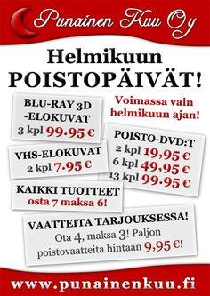 Helmikuun poistopäivillä huikeita tarjouksia!