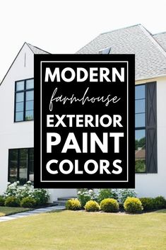 Looking for exterior paint colors? This post has the best modern farmhouse exterior color schemes! Paint your home in a modern farmhouse style after picking one of these paint combinations! Best House Colors Exterior, Farmhouse Exterior Colors, Best Exterior Paint, House Paint Exterior, Exterior Paint Colors, Exterior Paint Color Combinations, Exterior Color Schemes, Modern Farmhouse Style, Design Ideas