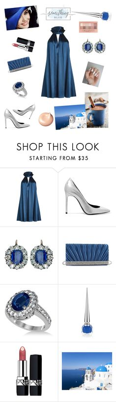 """""""Untitled #527"""" by miss3agle ❤ liked on Polyvore featuring Galvan, Yves Saint Laurent, Gunne Sax By Jessica McClintock, Allurez, Christian Louboutin, Christian Dior, Maybelline and Clé de Peau Beauté"""